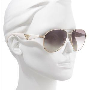 PRADA Aviator Polarized Sunglasses 60mm White